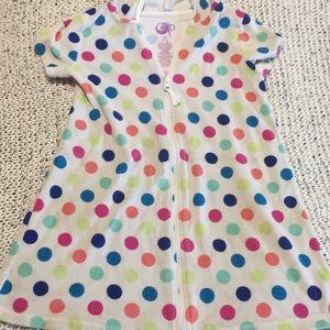 Girls swim cover size 7/8 polka dots